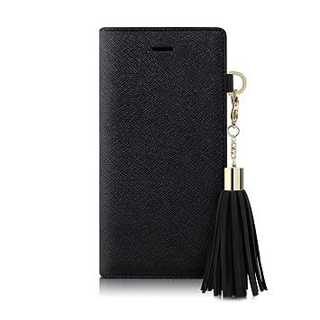 2f1a30a903 【日本正規代理店品】DreamPlus iPhone7 ケース Tassel Jacket ブラック 手帳型 アイフォン