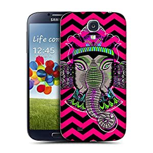 Head Case Designs Chevron Elephantism Replacement Battery Back Cover for Samsung Galaxy S4 I9500