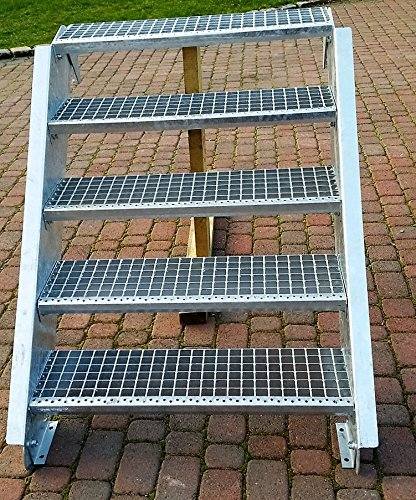 Berühmt Stahltreppe Aussentreppe Wangentreppe verzinkt 6 Stufen GH90-120 KT97