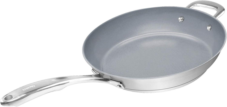 Chantal SLIN63-28C Induction 21 Steel Ceramic Coated Fry Pan, 11-Inch