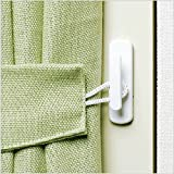 Modern Design Home Decoration Accessories Plastic Tieback Curtain Hook Wall Cloth Hanger 2 Pieces^Green