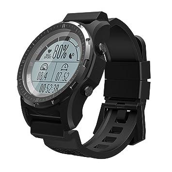OOLIFENG Reloj Running con GPS, Fitness Reloj Inteligente con Incorporado Pulsómetros, Barómetro, Brújula, Etc. para Al Aire Libre Aventurero,Black: ...