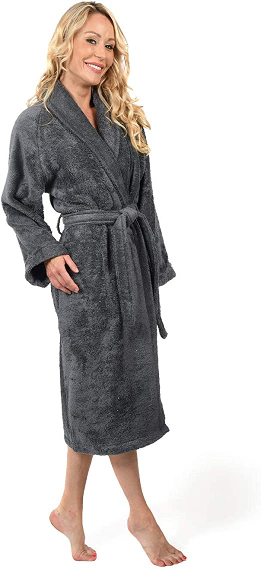Albornoz de baño 450 gr/m² algodón peinado/Modal sensilk, antracita, 4 - XL: Amazon.es: Hogar