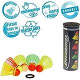 Speedminton Mix 5pk Speeder Tube - incl. 5 different Birdies for Speed Badminton/ Crossminton for Outdoor Games (SM03…