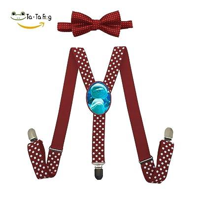 Xiacai Kawaii Sushi Suspender/&Bow Tie Set Adjustable Clip-On Y-Suspender Kids