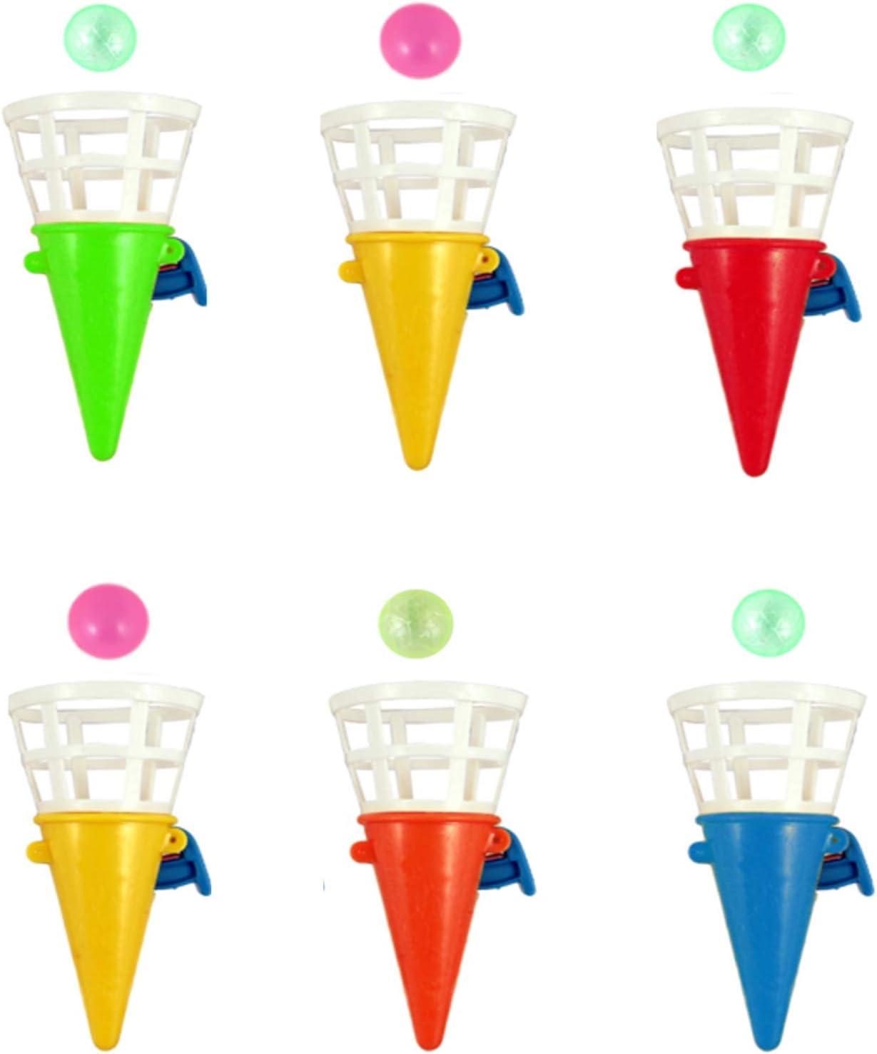 6 x Mini conos para jugar a cazar la pelota, regalo de cumpleaños ...