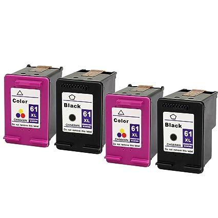 Eston 4 Pack - remanufacturados con CH563WN CH564WN BK/C 61 ...