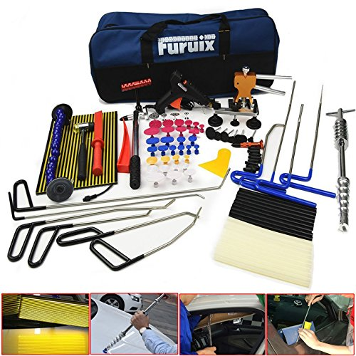 Car Dent Remover Furuix Paintless Dent Repair Kit/ PDR Rods Dent Puller Dent Lifter PDR Light Slide Hammer PDR Glue Kit by Furuix (Image #9)