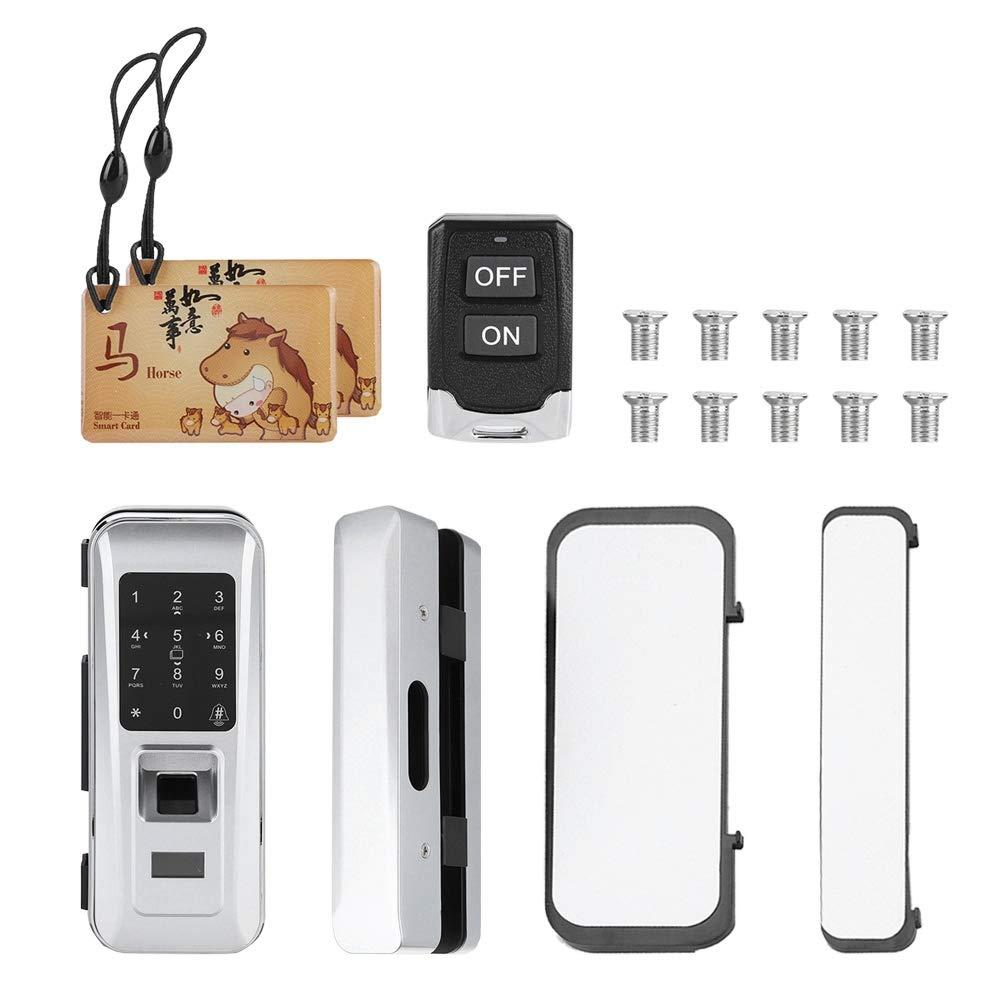 Focket Serrure de Porte dempreinte Digitale Serrure Keyless /électronique biom/étrique /électronique /à t/él/écommande Intelligente de Doigt pour la Porte en Verre de Bureau /à la Maison