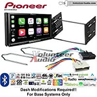 Volunteer Audio Pioneer AVH-W4400NEX Double Din Radio Install Kit with Wireless Apple CarPlay, Android Auto, Bluetooth Fits 1995-1997 Explorer, 1997 E-150, 2004-2006 Expedition
