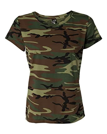 5619f748a732 Code Five Ladies Fine Jersey Camouflage T-Shirt - Multicoloured - Large