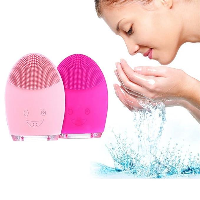 HGUJKM Skin Care Mini Cepillo de Limpieza Facial eléctrico para ...