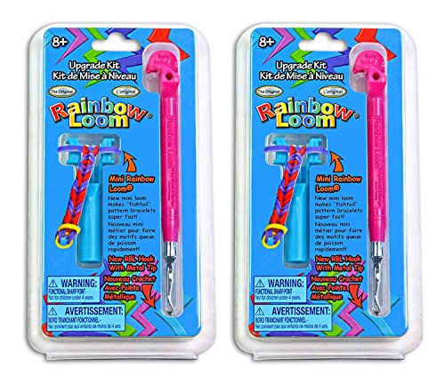 Pack of 2 Rainbow Loom Hook with Metal Tip Upgrade Kit Bundled by Maven Gifts 2 Looms
