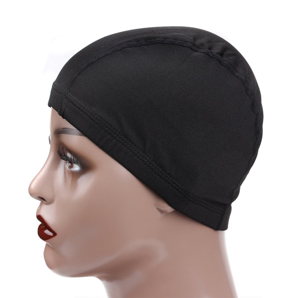 Leeons 5Pack Spandex Dome Style Wig Cap, Ultra Stretch Black Dome Cap, Elastic Hairnets Wig Caps for Men Women (Black) by Leeons (Image #4)