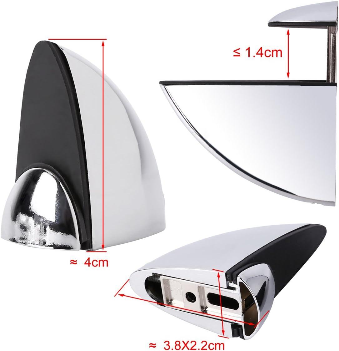 4/x Mini Soporte Para Estante Soportes para estantes Cristal Soporte de suelo de madera Estante