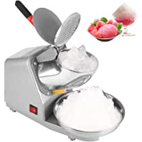 Electric Ice Crusher, Ice Shaver Machine Electric Snow Cone Maker Professional Double Blades Shaved Ice Machines for…