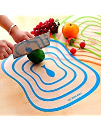 CheckOut 3Pcs Plastic Antibacterial Cutting Board Chopping Block Frosted Translucent Chopping Board shopping cheapest