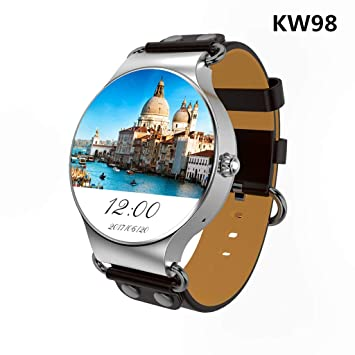 JingJingQi Reloj Inteligente Nuevo Reloj KW98 Smart Watch Android ...