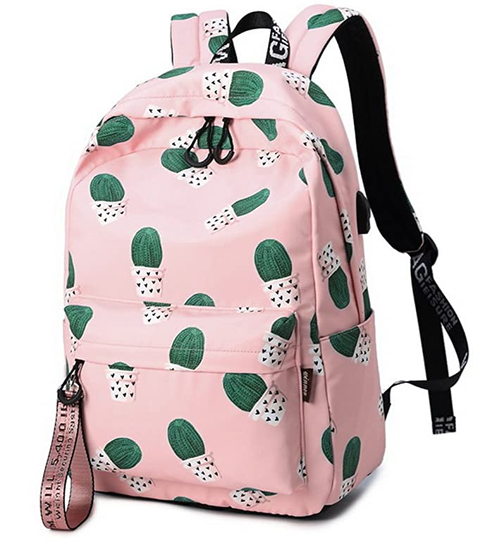 Amazon.com: Joymoze Unisex Fashion School Bag Teen Laptop Backpack with USB Charging Port Pink: Computers & Accessories
