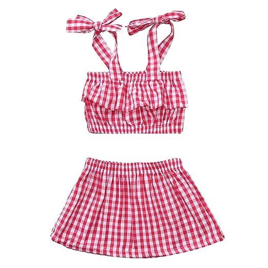8188e9458 Amazon.com  Newborn Infant Girls Summer Clothes Outfits 3-24 Months ...