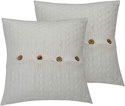Amazon.com: NuvoLe Home - Funda de cojín de punto de algodón ...