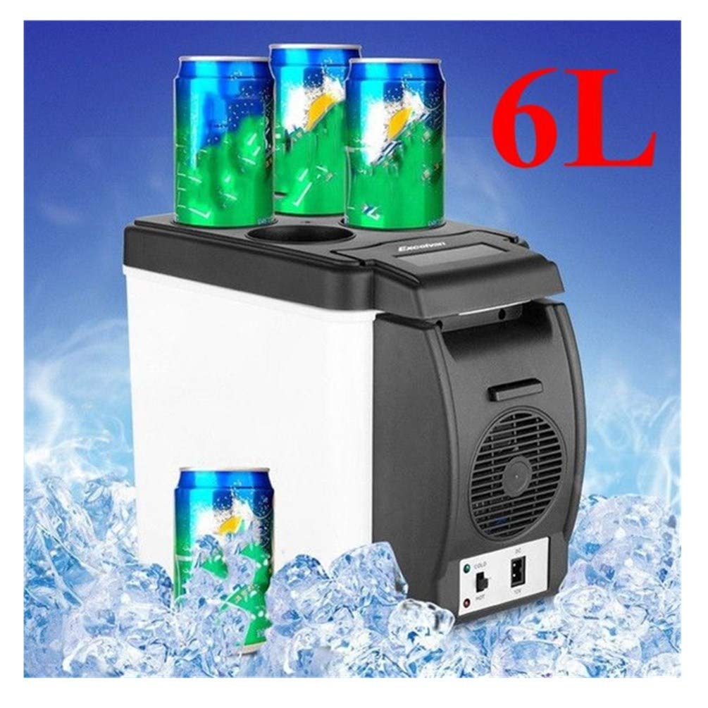 Car Refrigerator, callm 12V 6L Car Mini Fridge Portable Thermoelectric Electric Cooler and Warmer Travel Refrigerator - Ship from US