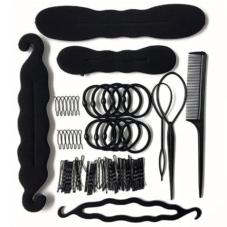 YOSPOSS-[79 piezas] Juego de accesorios para el pelo para mujeres y niñas, herramientas para ...