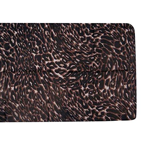 x Aboutyou seda Impreso y 70 Mujeres de Bufandas Bandana Bufandas largas Leopardo pura gris Envoltura 20 negro bufanda pulgadas RRwTq