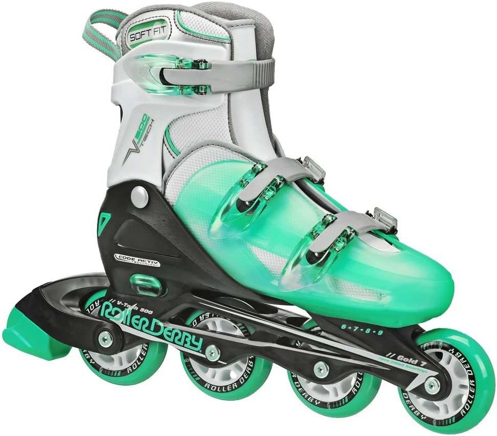 Roller Derby Women's V-Tech 500 Button Adjustable Inline Skate / US