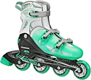 Roller Derby Women's V-Tech 500 Button Adjustable Inline Skate, Mint, Size 6-9