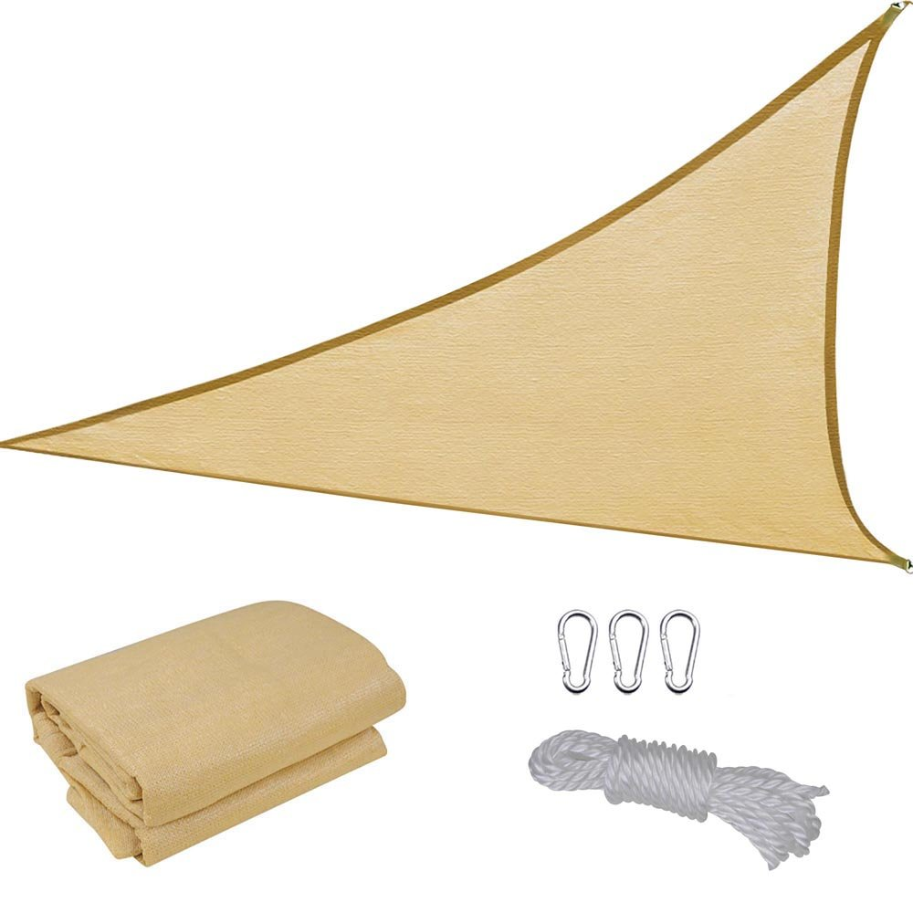 Amazon.com : 16.5 Triangle Sun Shade Sail Patio Deck Beach Garden Yard Outdoor Canopy Cover Uv Blocking (Desert Sand) : Patio, Lawn & Garden