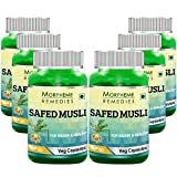 Morpheme Safed Musli Caps 500mg Extract 60 Veg Caps- 6 Bottles