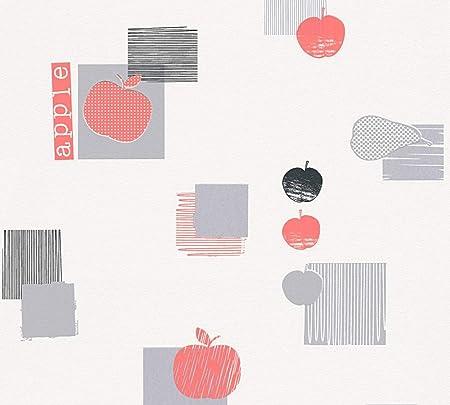 A S Creation 32762 1 De Cuisine Dreams Apple Motif Papier Peint