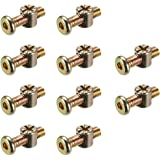 uxcell M6x85mm Furniture Bolt Nut Set Hex Socket Screw 51.4mm Thread Length with Barrel Nuts Phillips-Slotted 5 Sets