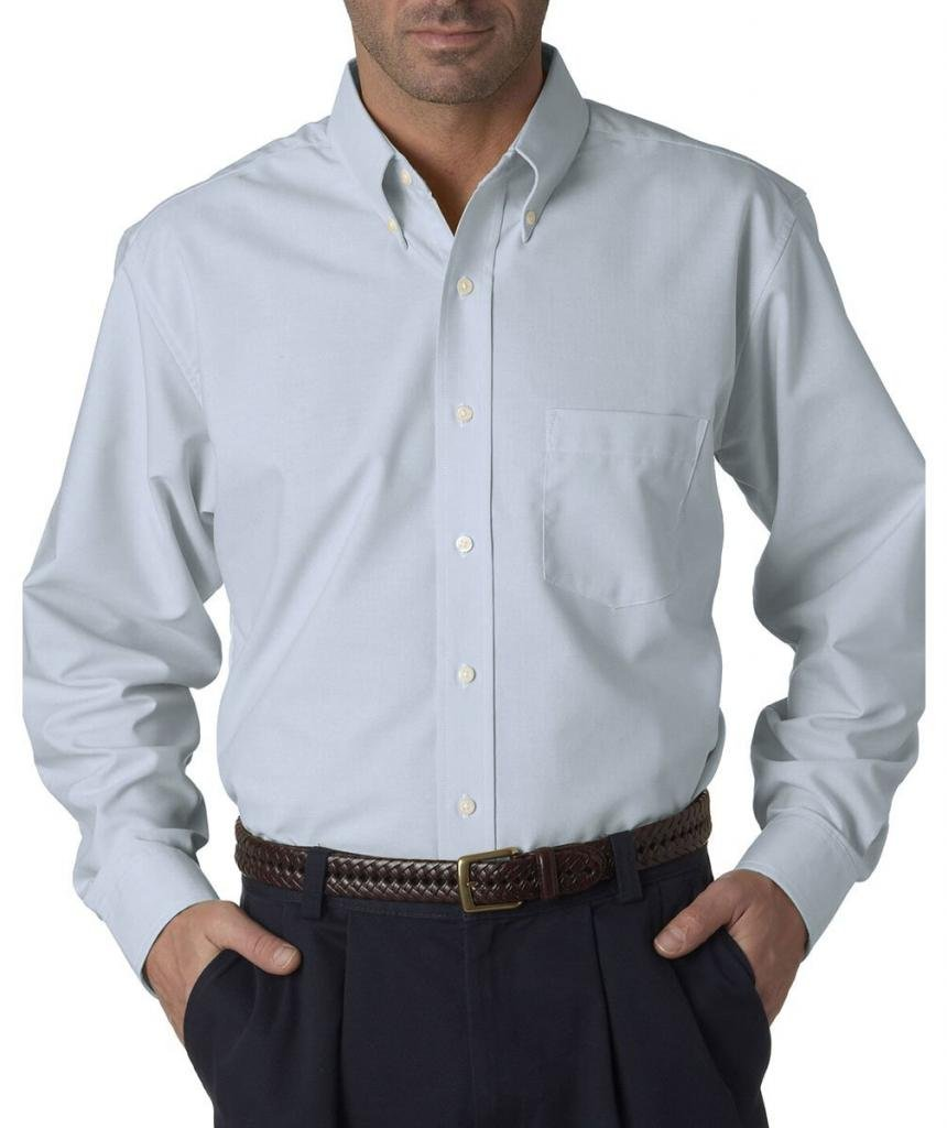 UltraClub Men's Classic Wrinkle-Free Long-Sleeve Oxford 8970