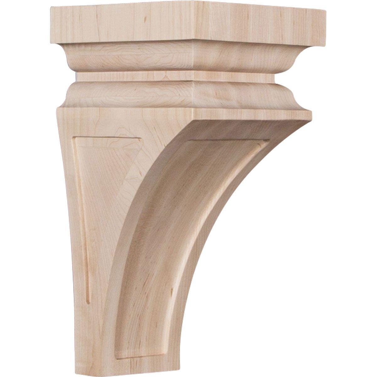 Ekena Millwork CORW03X03X06NEMA Wood Corbel 3 1//2W x 3 3//4D x 6H Maple