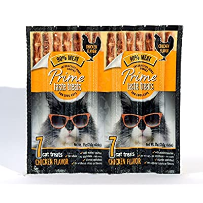Cat Food Prime Taste Treats Chicken Jerky Treat For Cats, 35G [tag]