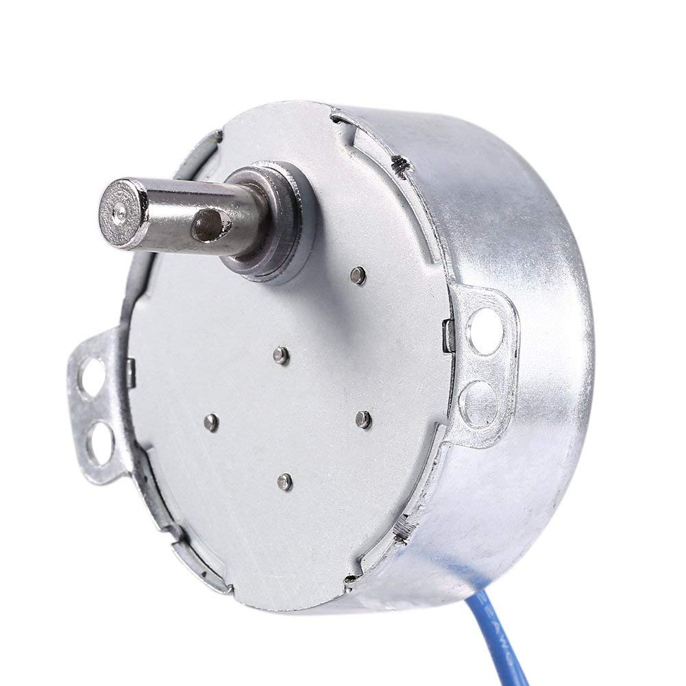 Turntable Synchronous Synchron Motor 50//60Hz Frequency AC 100~127V Geared Motor CCW//CW 4W 0.8-1RPM