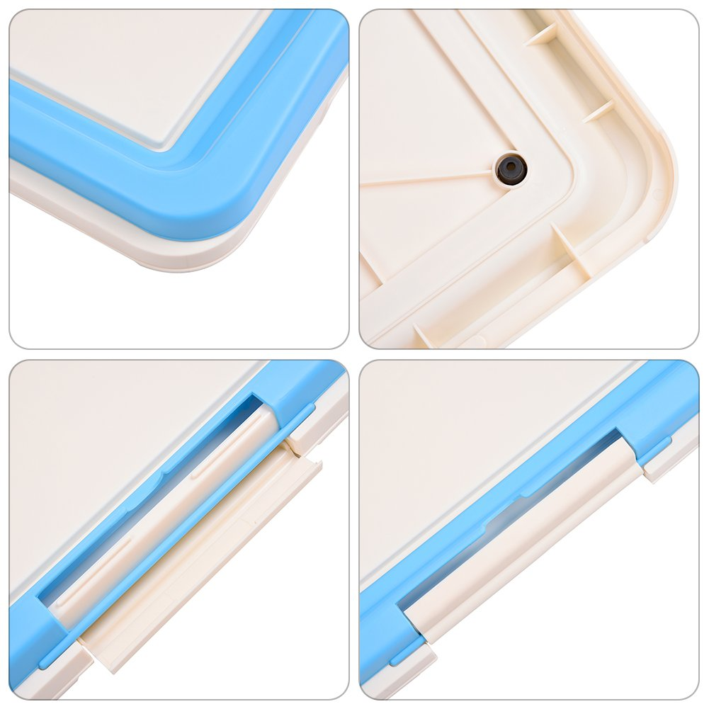 awtang Pet Training Toilet Small Sized Dog training Tray for Pets' Defecation Puppy Dog Potty Training Pad Blue by awtang (Image #5)
