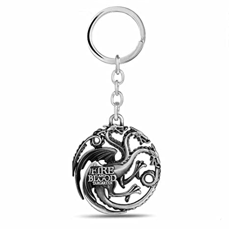 Juego de Tronos Fire and Blood House Targaryen Llavero ...