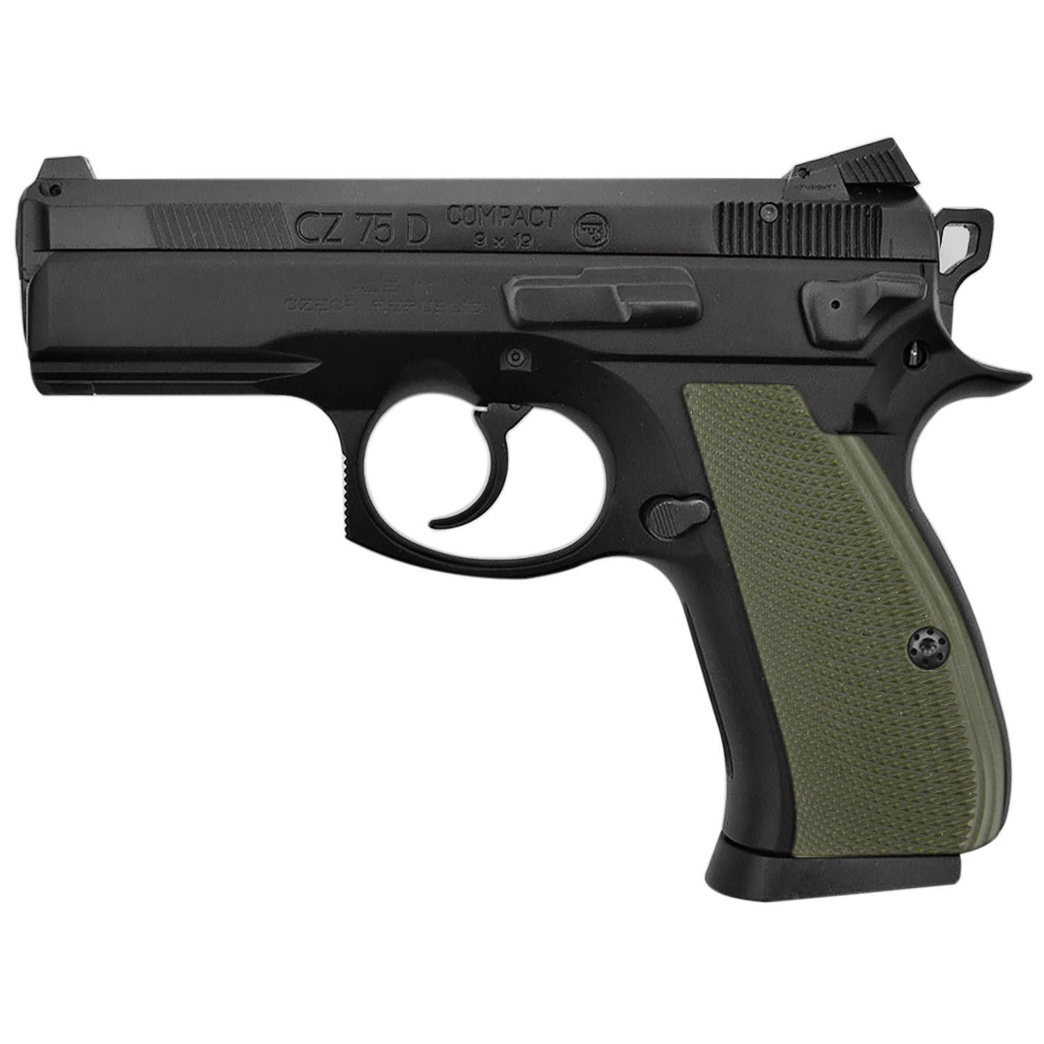 Cool Hand G10 Grips for CZ 75/85 Compact, Free Screws Included, Green, SPC-PN-2 by Cool Hand