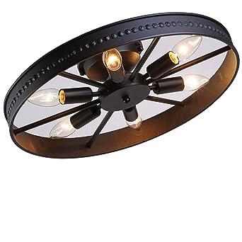 Retro Rad Deckenleuchte Vintage Runde Deckenlampe Antik Industry Ring  Design Kreative Decorative Deckenstrahler Eisen Lampeschirm  Deckenbeleuchtung
