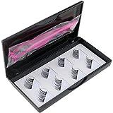 Fashion Magnetic Lashes Reusable 3D False Eyelashes Tweezers Set