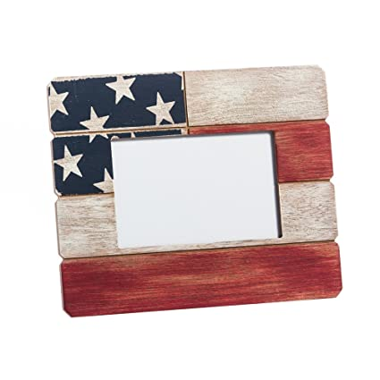 Amazon.com - Cypress Home American Flag Wooden 4x6 Picture Frame -