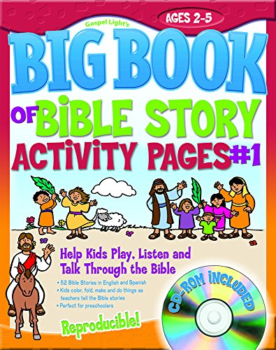 The Big Book of Bible Story Activity Pages #1 (with CD-ROM) (Big Books)