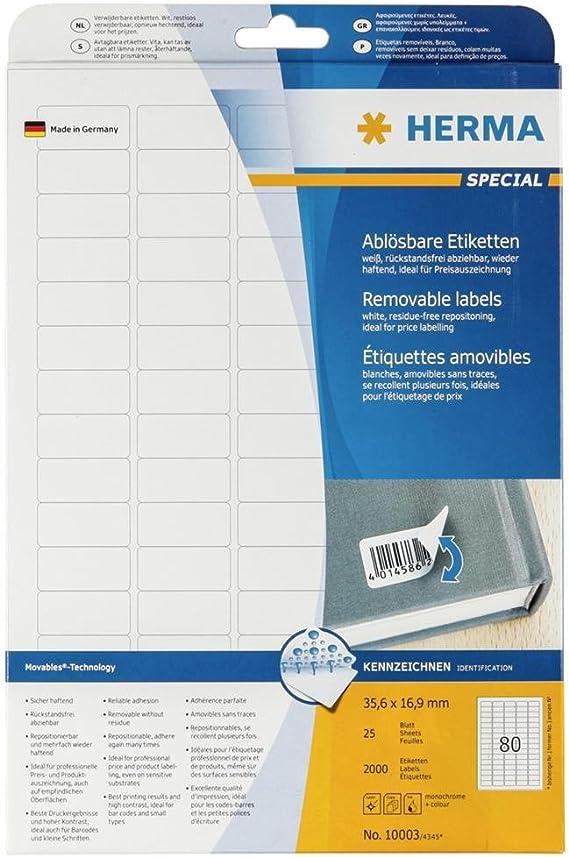 HERMA Universal Etiketten SPECIAL 25,4 x 10 mm weiß 4.725 Etiketten