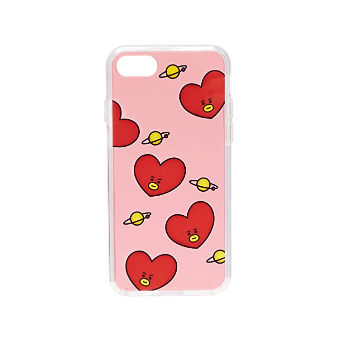pretty nice 6910a ad053 BT21 Official Merchandise by Line Friends - TATA Pattern TPU Case for  iPhone 8 Plus/iPhone 7+, Red