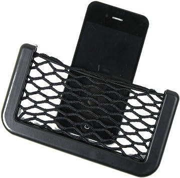 Auto Car Black Seat Side Storage Mesh Net String Phone Holder Pocket Organizer