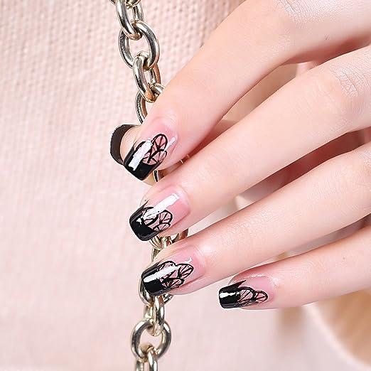 Shintop 500pcs uñas postizas, uñas postizas acrílicas 10 tamaños para salones de uñas y bricolaje Nail Art (Natural): Amazon.es: Belleza