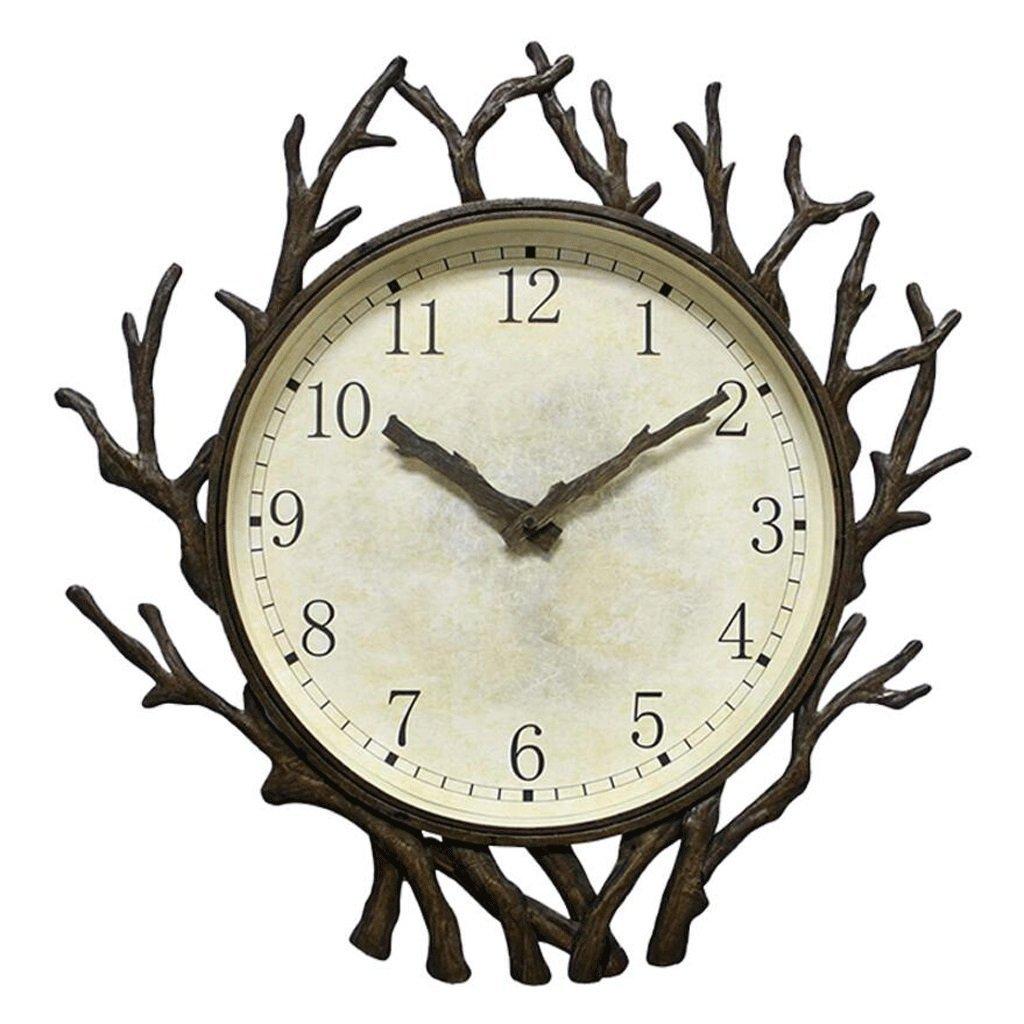 時計パーソナライズウォールクロックレストランミュートハンギングクロックファッションミュート クリエイティブウォールクロックレトロクォーツ SFANY B07DLVKZ2G